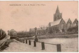 Cpa BELGIQUE/Flandre Occidentale  NEUVE EGLISE / NIEUWKERKE Coin Du Marché Et Rue D'Ypres - Altri