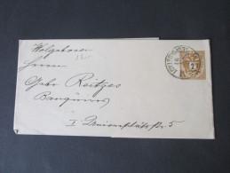 Österreich Doppeladler Streifband Ausgabe 1883 Verwendet 1891. Stempel:  Wien Leopoldstadt - Entiers Postaux