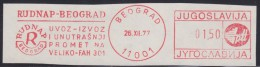 "2475. Yugoslavia, 1977, ""Rudnap"" Beograd, Flam - Yugoslavia"