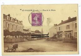 CPA -St Vallier - Place De La Mairie