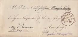 Bayern Brief Kirchensache München 17.8.1877 Gel. Nach Ampfing Ansehen !!!!!!!!!!! - Bayern