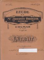 Acte De Vente 1927 Notaire Burger Colmar - Manuscrits