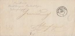 Baden Brief Bonndorf 24.3.1867 Rückseitig Postablagest. Stühlingen - Eberfingen - Baden