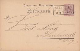 DR Ganzsache Nachv. Stempel Seehausen In Der Altmark 15.2.77 - Deutschland