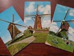 MOLENS Moulin ( Hellouw (Gld) / Boterhuis Te Warmond En De Nekker - Anno 19?? / 3 Kaarten - Zie Foto's Voor Details ) !! - Pays-Bas