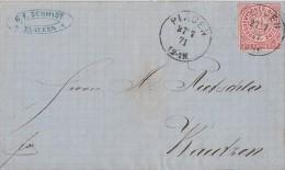 NDP Brief EF Minr.16 Plauen 27.7.71 Gel. Nach Bautzen - Norddeutscher Postbezirk