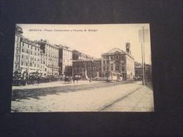 GENOVA - Piazza Caricamento E Palazzo San Giorgio, Tram, Animata - Cartolina FP NV - Genova