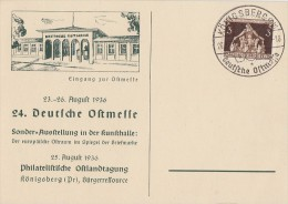 DR Sonderkarte EF Minr.617 SST Königsberg 26.8.36 - Briefe U. Dokumente