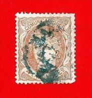 España. Spain. 1870 (o) Edifil 104. Efigie Alegorica. 4 Milesimas. Sepia - 1868-70 Provisional Government