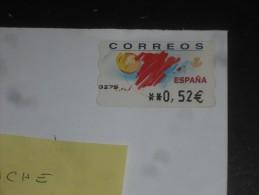 LETTRE ESPAGNE ESPANA AVEC YT DISTRIBUTEUR 49 - TOURISME CARTE SOLEIL - - 1931-Oggi: 2. Rep. - ... Juan Carlos I