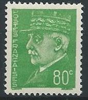 1941-42 FRANCIA MARESCIALLO PETAIN 80 CENT MNH ** - EDF036-2 - 1941-42 Pétain