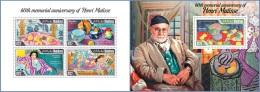 mld14404ab Maldives 2014 Painting Henri Matisse 2 s/s