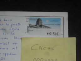 LETTRE ESPAGNE ESPANA AVEC YT DISTRIBUTEUR 71 - ARCHITECTURE POSTALE LA COROGNE - CPM BENICASSIM - - 1931-Oggi: 2. Rep. - ... Juan Carlos I