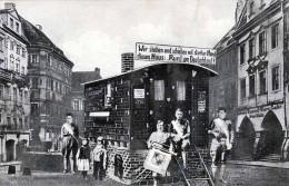 """1931 - Mit Einem Märchenhaus Zu Fuß """"Rund Um Deutschland"""", 38 Zentner Schwer, Orig.Karte Görlitz I.Schlesien D.22.4.1931 - Schlesien"""