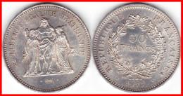 Franc 50 Francs HERCULE 1977 Argent Silver 900°/°°  30g  F 427 - 5 (N°2) - France