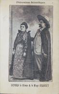 PHENOMENES SCIENTIFIQUES CIPSKA LA GITANE ET LE MAGE ORANOOF CARTE RARE DE 1898 - Célébrités