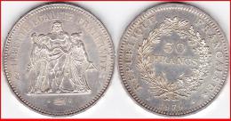 Franc 50 Francs HERCULE 1979 Argent Silver 900°/°° 30g  F 427 - 7 N°2 - France