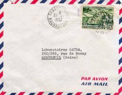 MADAGASCAR 1957 - 15F Sondermarke Auf Brief Nach Montreeuil - Madagaskar (1889-1960)