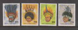 Papua New Guinea 1991 Head Dress Set 4 MNH - Papúa Nueva Guinea