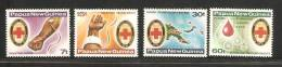 Papua New Guinea 1980 Red Cross Blood Transfusion Set 4 MNH - Papouasie-Nouvelle-Guinée