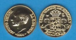 PHILIPPINEN  (Spanish Colony-King Alfonso XII) 4 PESOS  1.884  ORO/GOLD  KM#151  SC/UNC  T-DL-10.936 COPY  Aust. - Philippinen