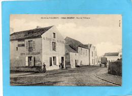 ISLES Les VILLENOY-café Hotel MEGROT-pub Michelin Sur Mur- Animée  --a Voyagé En 1910 - Autres Communes