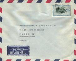 1958  Lettre Avion De Paulis Pour La France  Masques 8f - 1947-60: Covers