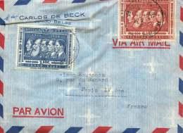 1958 Lettre Avion De Bunia  Pour La France  Cinquantenaire Du Congo  1,50f, 6,50f - 1947-60: Covers
