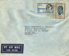 Lettre Avion  Pour La France  Masques 6f, Baudouin 4,50f - 1947-60: Covers