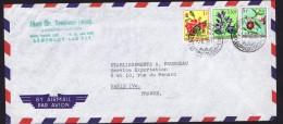 1956   Lettre Avion  Pour La France   Fleurs1f, 1,50f  5f - 1947-60: Briefe U. Dokumente