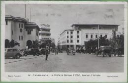 MAROC - CASABLANCA - La Poste, La Banque D'Etat, Avenue D'Amade - Casablanca