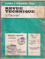 Revue Technique DIESEL - 1969 - Moteurs INDENOR 4 Et 6 Cylindres Séries TMD Et XPD - Auto/Moto