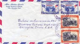 HONDURAS 1964 - 4 Fach Frankierung Auf LP-Brief Nach Chicago - Honduras