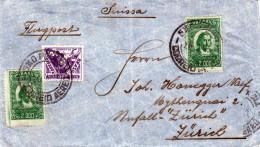 BRASIL 1940? - 3 Fach Frankierung (200 + 2x2000 Reis) Auf LP-Brief Von Sao Paulo > Zürich - Briefe U. Dokumente