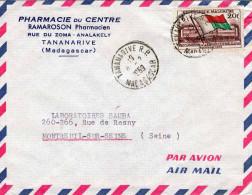 MALGACHE 1959 - 20F Auf LP-Brief Von Tananarive Nach Montreuil Sur Seine France - Luftpost