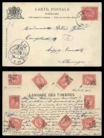Belgium 1902 Postal History Rare Postcard Stamp Language - Genck To Leipzig Germany D.184 - Cartes Postales [1871-09]