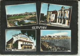 SERVIAN CARTE MULTIES VUES .CAVE COOPERATIVE  PLAGE ETC - France