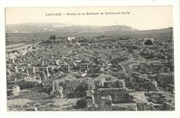 Cp, Tunisie, Carthage, Ruines De La Basilique De Damous-el-Karita, écrite - Tunisie
