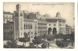 Cp, Algérie, Alger, La Dépêche Algérienne Et La Poste, Voyagée 1930 - Alger