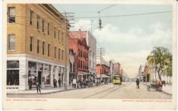 Tampa Florida, Franklin Street Scene, street Car, Detroit Publishing c1900s Vintage Postcard