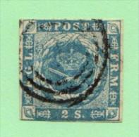 DEN SC #3  1855 Royal Emblems  3.5+ Margins, CV $60.00 - 1851-63 (Frederik VII)