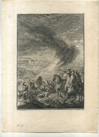 - SCENE ANTIQUISANTE . EAU FORTE DES ANNEES 1760 . G. DE SAINT AUBIN/TARDIEU  . - Stiche & Gravuren