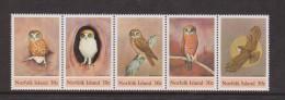 Norfolk Island 1984 Bird Owl Strip Of 5 MNH - Isola Norfolk
