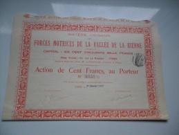 FORCES MOTRICES DE LA VALLEE DE LA BIENNE (1909) - Shareholdings
