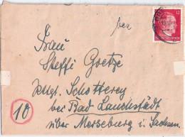 Falt Brief Mit Frühem Postleitzahlenstempel (8) BRESLAU 19.10.1944 Mit Inhalt Nach Rittergut Schotterey B Bad Lauchstädt - Briefe U. Dokumente
