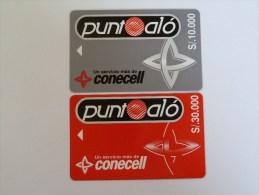 ECUADOR - Conecell - 10.000 & 30.000 - Pair - RARE