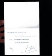 Carte Autographe Signée Le Maréchal Et La Maréchale Juin - Autographes