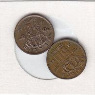 2 X 50 CENTIMES Bronze 1966 FR Et 1966 FL   Qualité++++++++++++++++++ + - 1951-1993: Boudewijn I