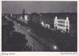 "AK Hamburg - St. Pauli - Reeperbahn Bei Nacht - Zillertal - Werbestempel ""Ostergrüße Durch Telegramme"" - 1935 (6691) - Allemagne"