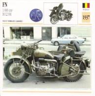 Fiche Technique Moto (Side-car/Attelée)  -  FN 1000cc M12 SM Armée  -  1937 - Autres